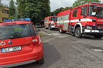 Požár v Chabarovské ulici v Liberci.