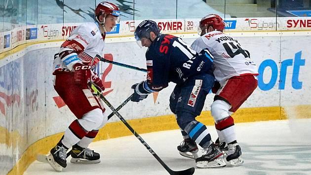 Liberec v prvním utkání čtvrtfinále přemohl Hradec 4:3 v prodloužení.
