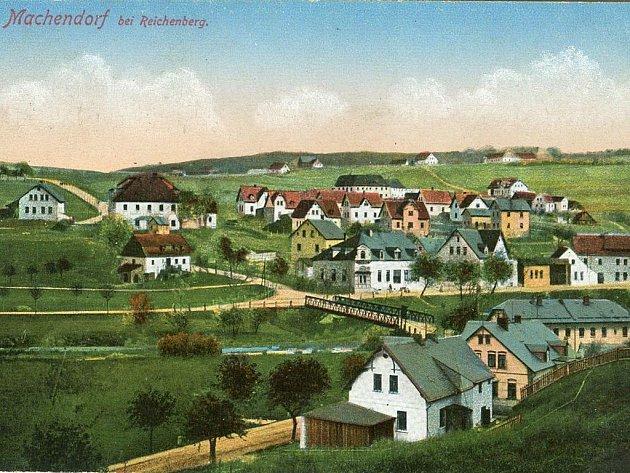 Machnín na pohlednici z počátku 20. století.