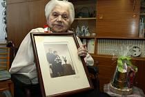 ŽIVOTNÍ JUBILEUM oslavila Božena Pokorná z Liberce, je jí 100 let.