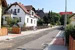 Dvořákova ulice ve Frýdlantu.