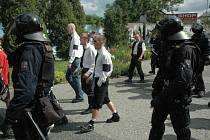 Demonstrace občanského sdružení Národní korporativismus.