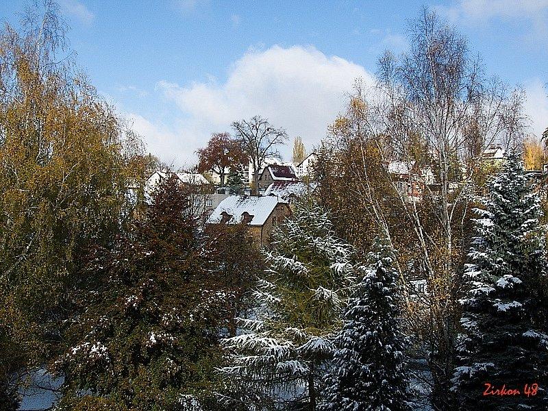 První sníh v Liberci, v sobotu 27.10.
