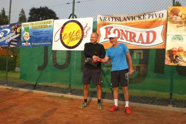 Vítězná dvojice Jirka Dygrín a Jirka Kovář.