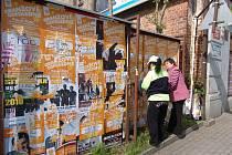 Plakátovací plochy. Ilustrační foto