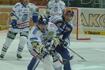 LIBEREC OPĚT OTOČIL. Hokejisté Bílých Tygrů stejně jako proti Pardubicím prohrávali o dvě branky, přesto dokázali vyrovnat a rozhodnout v prodloužení.