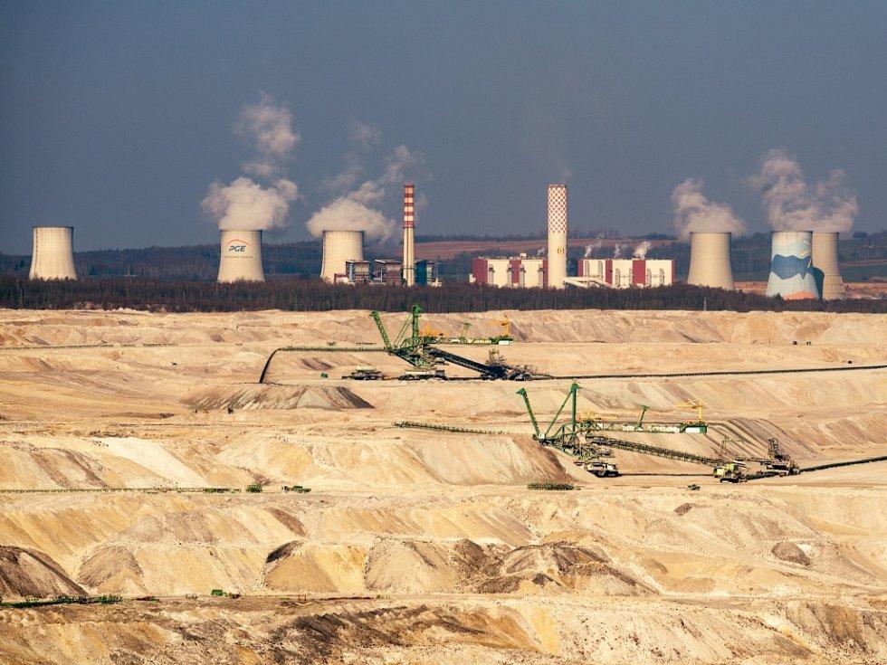 Hnědouhelný důl Turow v Polsku.