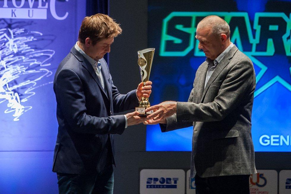 Vyhlášení ankety Nejúspěšnější sportovec Libereckého kraje za rok 2016 proběhlo 4. dubna v libereckém Divadle F. X. Šaldy. Na snímku vlevo Jan Víšek.
