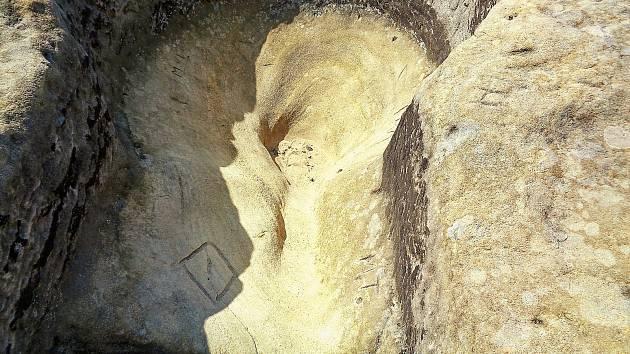 Trvale poškozená vyhlídka Františka Lance.