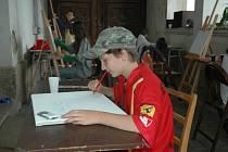 Samotné výstavě předcházela tvorba děl dětí z příměstského výtvarného tábora v liberecké Oblastní galerii.