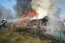 Požár stodoly na Smržovce.