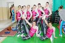 SPORT AEROBIC LIBEREC. Stříbrné seniorské družstvo step týmu.