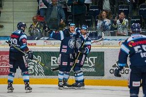 Utkání 3. kola Tipsport extraligy ledního hokeje mezi celky Bílí tygři a Aukro Berani Zlín
