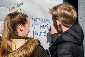 Výstražná stávka studentstva na Liberecku