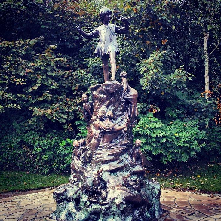 Peter Pan v Londýně.