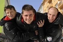 Reprezentanti v severské kombinaci. Zleva Pavel Churavý, Martin Dvořák, Tomáš Slavík