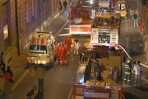 Požár v Sokolské ulici.