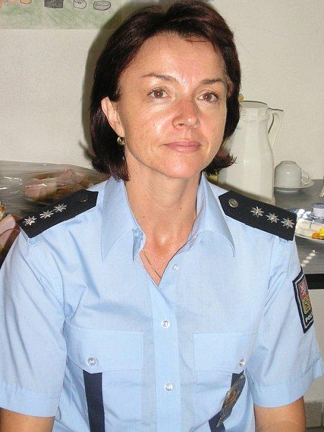 POLICISTKA. Nataša Janoušková bere svou funkci jako výzvu pro ostatní policistky v sestavě.