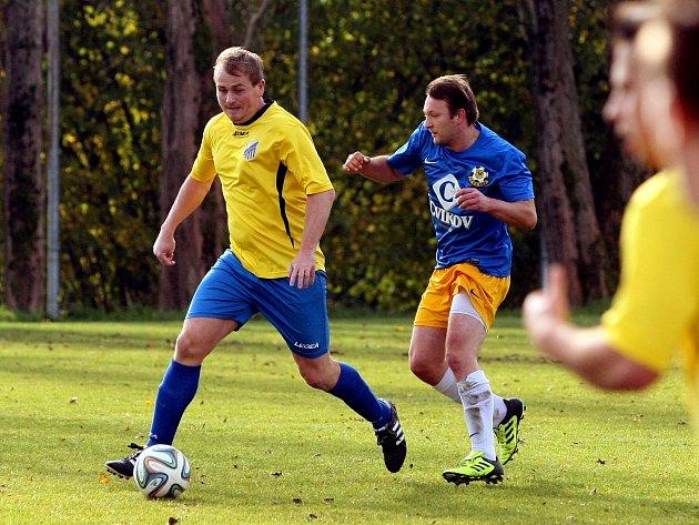 Krásná Studánka - Cvikov - fotbalová I. A třída Liberecký kraj. Studánka je ve žlutém