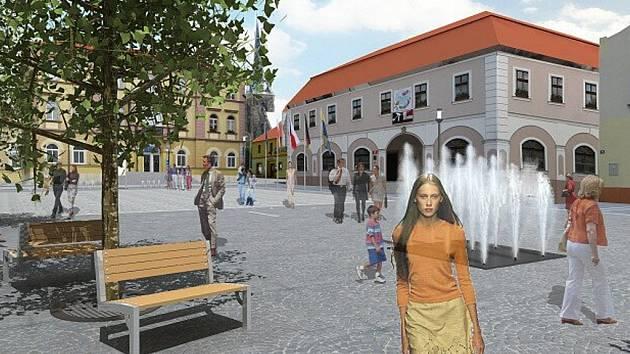 NOVÉ NÁMĚSTÍ. Takhle nějak by mohlo vypadat v roce 2010 Horní náměstí v Hrádku nad Nisou.