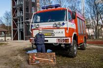 Loučení s hasičem Janem Semerádtem.