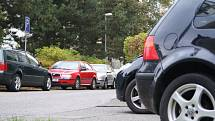 Parkování v Liberci. Ilustrační snímek.