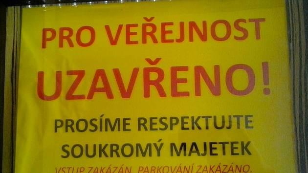 WEBEROVA CHATA na Malinovém vrchu je pro veřejnost uzavřena.