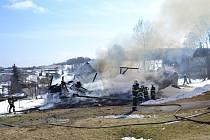 Požár stodoly v Roprachticích