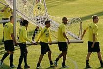 Oficiální předzápasový trénink AZ Alkmaar ve středu 3. srpna v Chance Areně v Jablonci.
