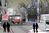 TAK MĚLO VYPADAT. Obrázek ukazuje, jak mělo vypadat muzeum tramvají.