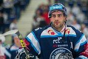 Utkání 9. kola Tipsport extraligy ledního hokeje se odehrálo 1. října v liberecké Home Credit areně. Utkaly se celky Bílí Tygři Liberec a HC Dynamo Pardubice. Na snímku je Petr Jelínek.