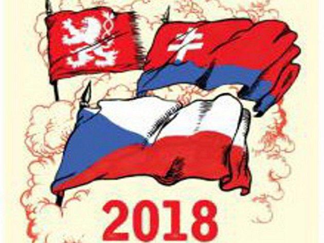 Nástěnný kalendář vydaný u příležitosti 100. výročí založení Československa.
