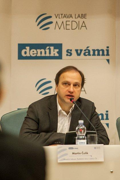 Martin Čulík při Setkání shejtmanem.