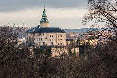 Zámek Frýdlant na snímku z 16. ledna.