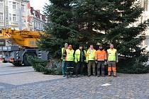 Vánoční strom Liberec - hasiči