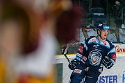 Dohrávka zápasu 11. kola Tipsport extraligy ledního hokeje se odehrála 26. února v liberecké Home Credit areně. Utkaly se celky Bílí Tygři Liberec a HC Dukla Jihlava. Na snímku je Jan Ordoš.