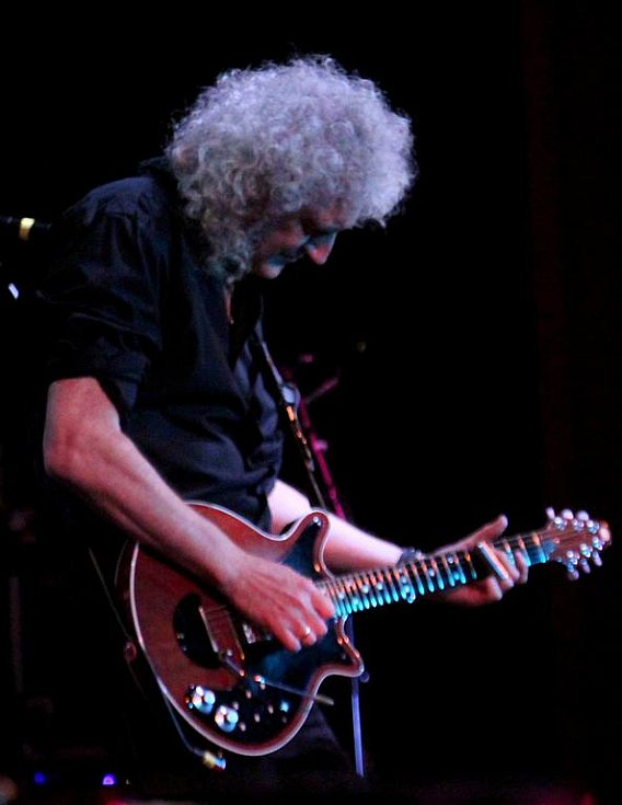 Brian May, kytarista Queen.