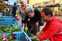 TRHY oficiálně začínají až v pondělí, pořadatelé ale první nedočkavce přivítali už ve středu. Zájem o farmářské trhy je velký nejen mezi zákazníky, ale i mezi lokálními farmáři.