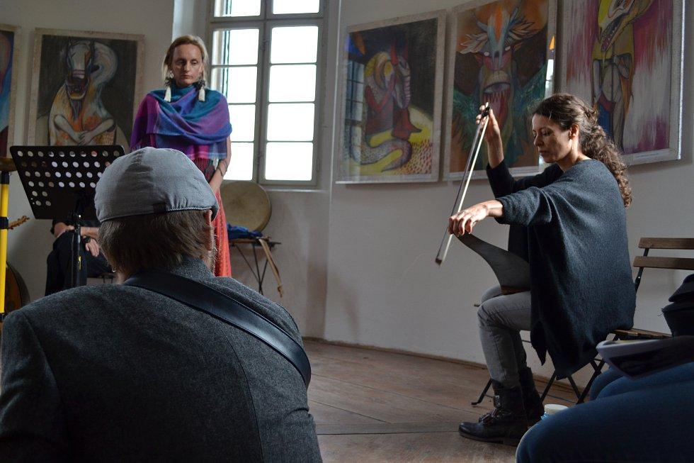 DRAKOVA SÍŇ A ČLOVĚKA STÍN. Výstava Raduše Chocholoušové. Vernisáž.