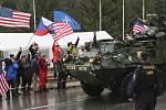 Konvoj americké armády v Libereckém kraji.