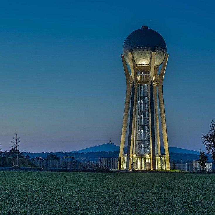 Věžový vodojem Ohrazenice u Turnova.