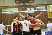 1. čtvrtfinále volejbalové extraligy mezi VK Dukla Liberec vs. AERO Odolena Voda