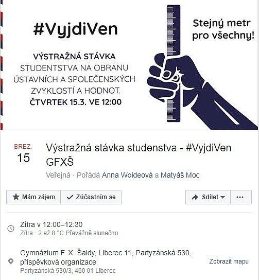 Ke stávce se připojí istudenti zGymnázia F. X. Šaldy.