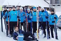 Zimní příprava SLovanu Liberec vJizerských horách.
