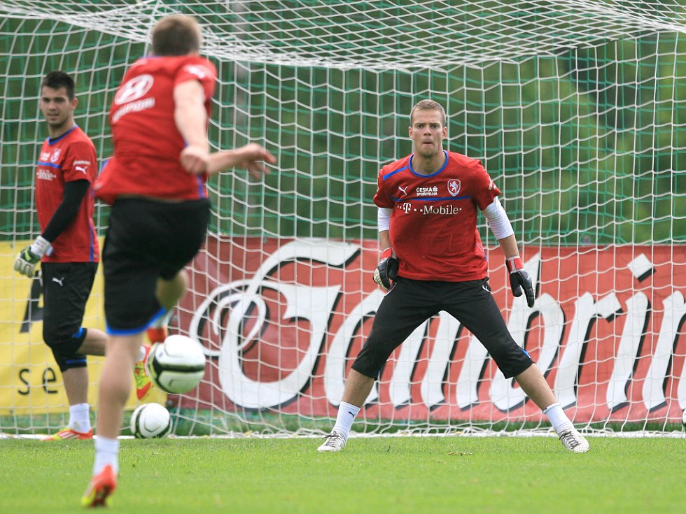 Roman Valeš na tréninku reprezentace do 21 let
