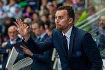 Utkání 16. kola Tipsport extraligy ledního hokeje se odehrálo 2. listopadu v liberecké Home Credit areně. Utkaly se celky Bílí Tygři Liberec a Piráti Chomutov. Na snímku je trenér Filip Pešán.