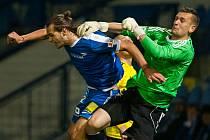 Liberecký útočník Matěj Pulkrab (vlevo) vstřelil Karviné dva góly.