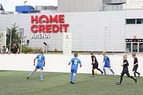Turnaj malých fotbalistů na centrálním parkovišti u Home Credit Areny.
