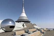 Vizualizace obnovy vysílače a hotelu Ještěd.