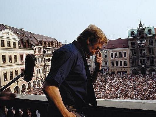 Václav Havel na liberecké radnici.